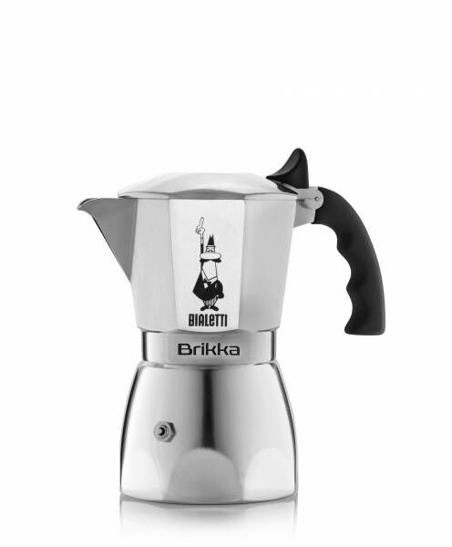 Bialetti Espressokocher Brikka mit Cremaventil für 2 Tassen