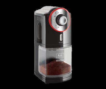 Melitta Molino® Kaffeemühle schwarz-rot