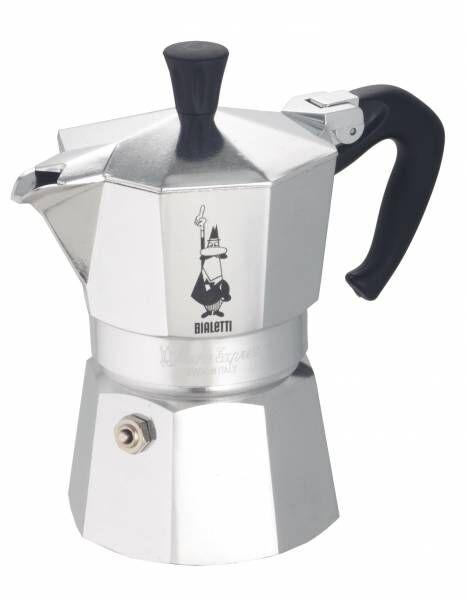 Bialetti Moka Express Aluminium-Espressokocher für 1 Tasse