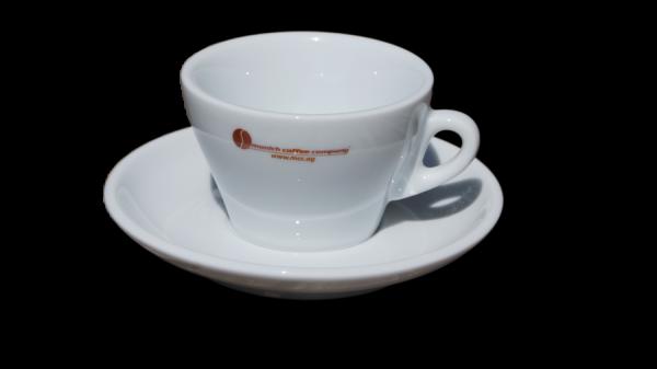 Cappuccinotasse TORINO mit MCC-Logo - 150cc