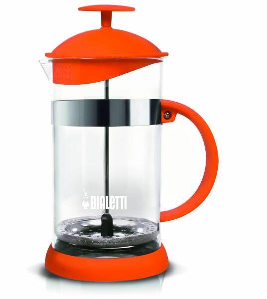 """Bialetti Kolbenfilter Kaffeemaschine """"French Press Joy"""" Orange - 1 Liter/8 Tassen"""