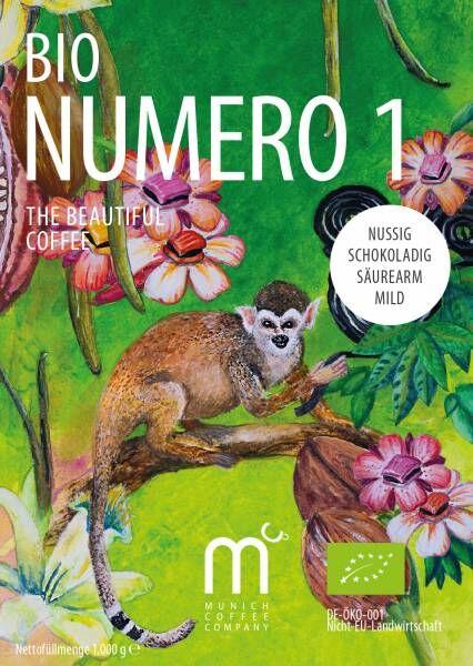 MCC Espresso Numero1 BIO - 100% Bio + Fairtrade - Bohnen 1kg - 28er-Pack
