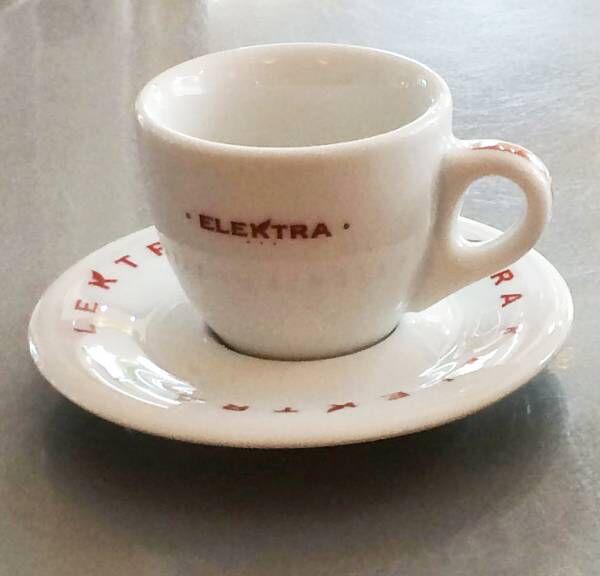 Espresso Tassen rote Schrift von ELEKTRA (6 Stück)